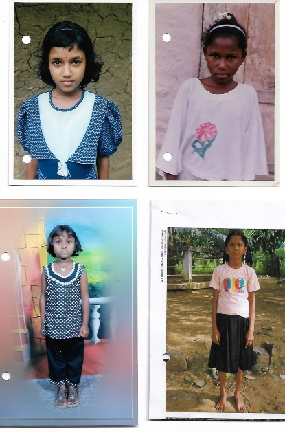 Vier van de vijf Plan Kinderen van Rita uit Sri Lanka