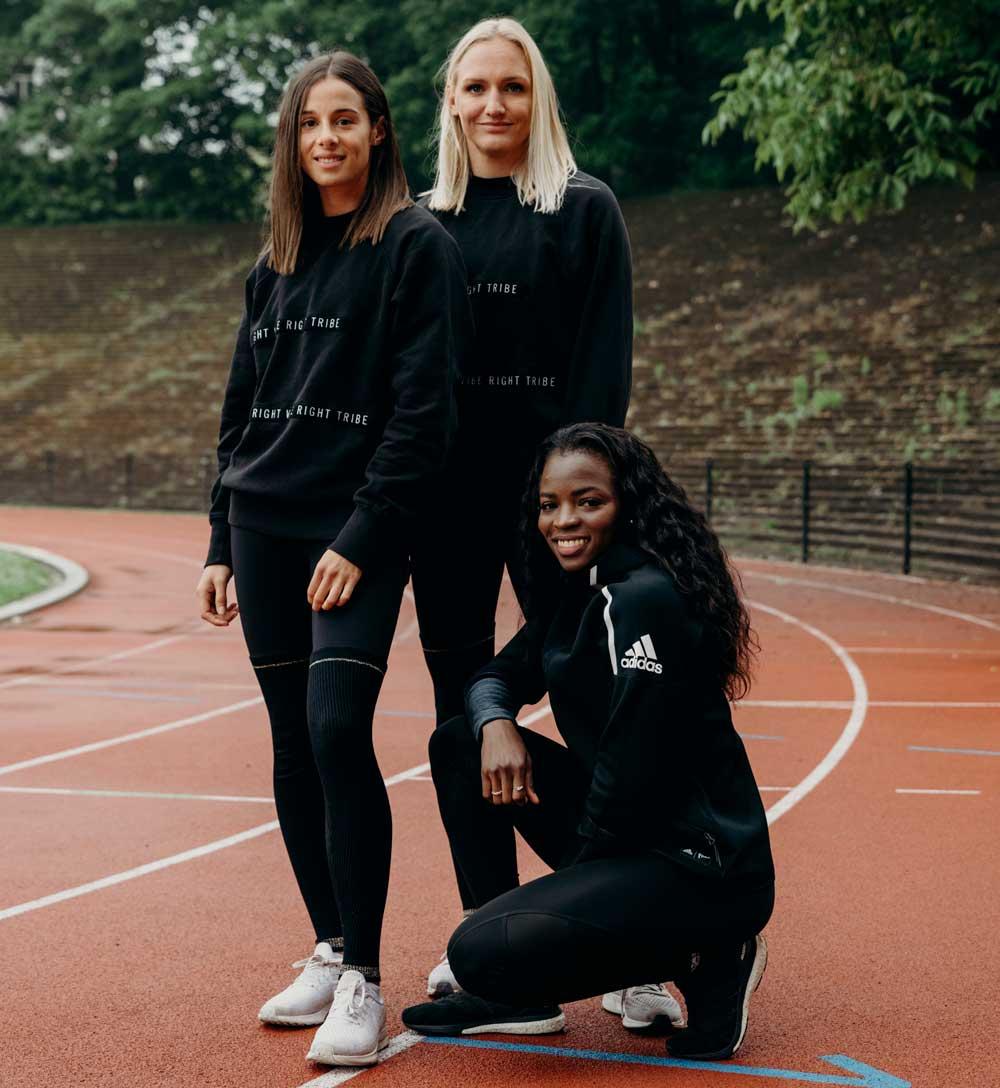 Belgische 4x400m loopsters en Plan International België sprinten voor gelijke rechten