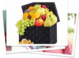 Grote rieten fruitmand Plan International