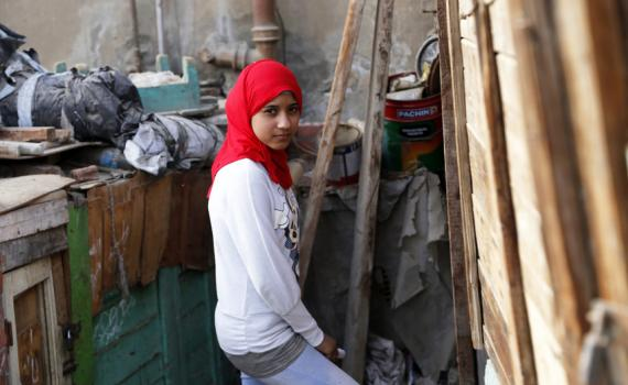 Amel refuse de se faire exciser. Photo: Plan International/Heba Khalifa